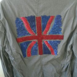 Club jacket with embroidery on the back