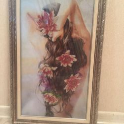 Beaded picture in baguette