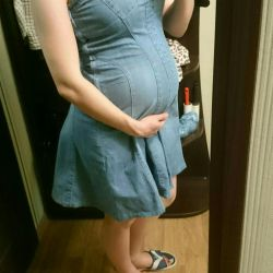 Denim sundress for pregnant