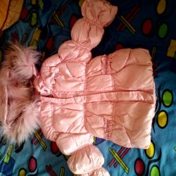 Down jacket for a little princess