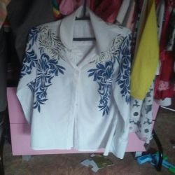 Blouse on the chest 2 sizes. New