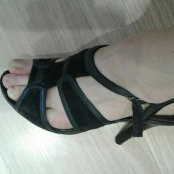 Sandals leather suede