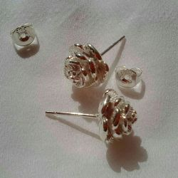 Earrings are new, silver plated.