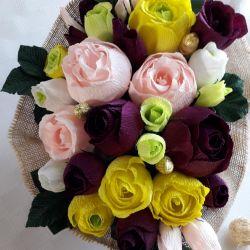 Квіти в коробці в стилі русстік
