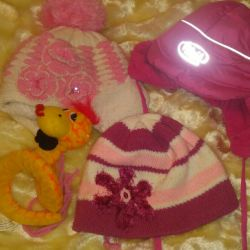 Hats for girl + toy as a gift
