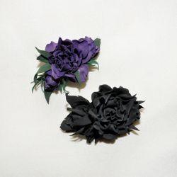 Χειροποίητο κλιπ μαλλιών φαντασίας με τριαντάφυλλο