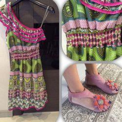 Платье на лето италия босоножки