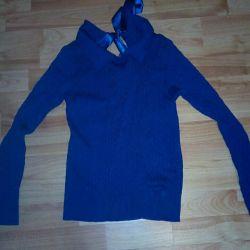 Sırtı bağcıklı sweatshirt