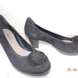 Suede women's shoes.