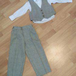 Κοστούμι τριών τεμαχίων (γιλέκο, πουκάμισο, παντελόνι)