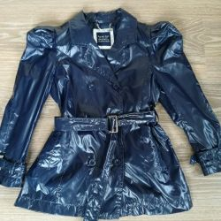 Short raincoat.