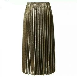 Skirt gold, new, 44-46, 48-50 size