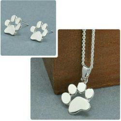 Set of earrings + pendant