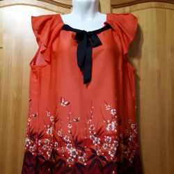 Blouse of coral color 44-46r.