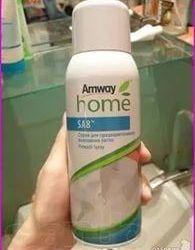 Spray pentru îndepărtarea petelor de Amway.