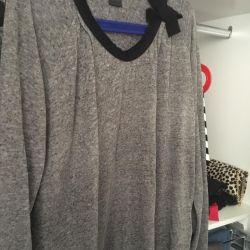 μπλούζα λεπτές μαλλί ποτάμι 50-52 στο φόρεμα oreginal