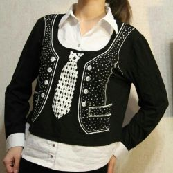 Stretch jacket with rhinestones + gift