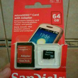 Memory Card Sandisk (Sandisk) 64 Gb