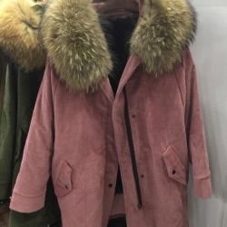 New parka natural fur R. of S and L