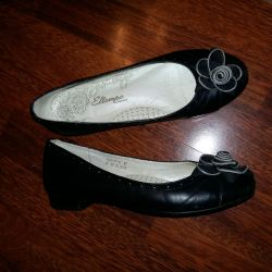 Kız için okul ayakkabısı, kullanılmış, siyah, deri, 36