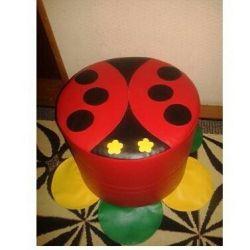 Children's ottoman Ladybug