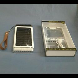 External battery on solar panel 25000 mAh