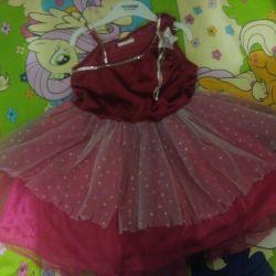 Нарядное платье+ чешки и ободок