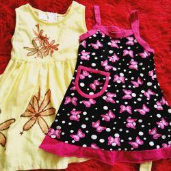 Φορέματα για 1-2 χρόνια.