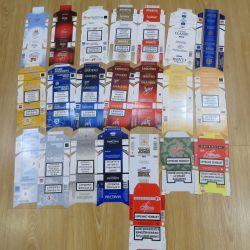 Этикет от пачек  сигарет
