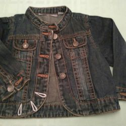 Jeans jacket on the girl's height 71