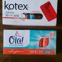 Kadınlar için tamponlar, 2 paket için fiyat