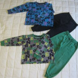T-shirt for children with a sleeve and trousers 104