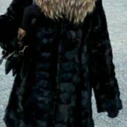 fur coat of mink pieces 44-46 size