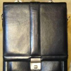 Briefcase tablet Petek genuine leather