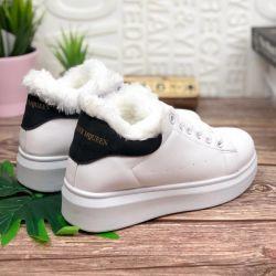 Αθλητικά πάνινα παπούτσια mcqueen με παπούτσια με γούνα