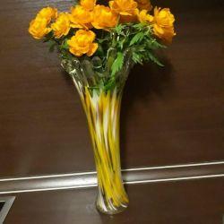 Tall vases.
