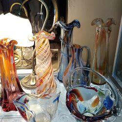 Vases, (Czech glass)