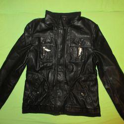 Leather jacket 48 new