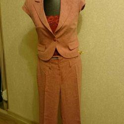 Linen three piece suit Carla