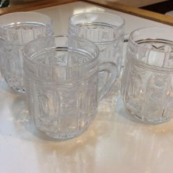 Crystal mugs dishes from the USSR