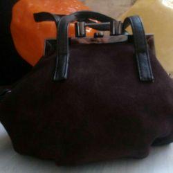 Новая сумочка. Натуральная замша.