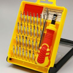 Magnetic screwdrivers for telephones and small equipment