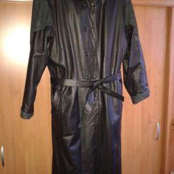 Natural leather cloak