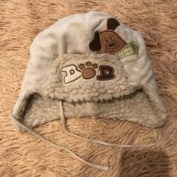 Winter hat for a boy of 5-6 years