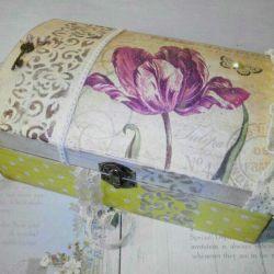 Jewelry box vintage decoupage gift home decor