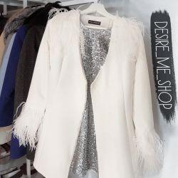 Demi-σεζόν λευκό παλτό