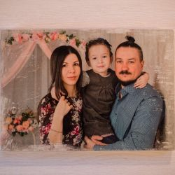 Photo on a wooden tablet to order