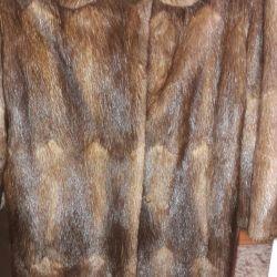 Φυσικό ζεστό γούνινο παλτό