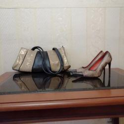 Σετ παπουτσιών + τσάντα από γνήσιο δέρμα