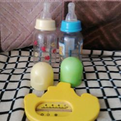 bottles and thermometer
